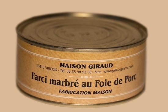 Farci marbré au foie de porc (bte 270g)