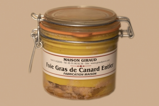 Foie gras de canard naturel (bocal 125g)