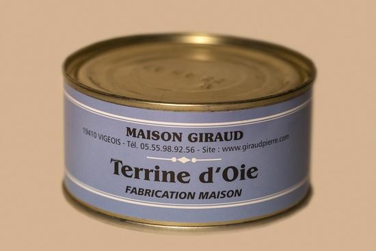 Terrine d'oie  au foie gras (bte 190g)