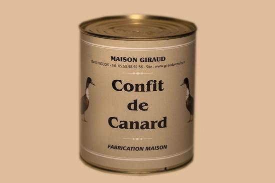 Confit de canard ( 6 cuisses 1300g)