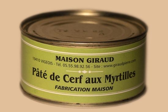 Pâté de cerf aux myrtilles (bte 130g)