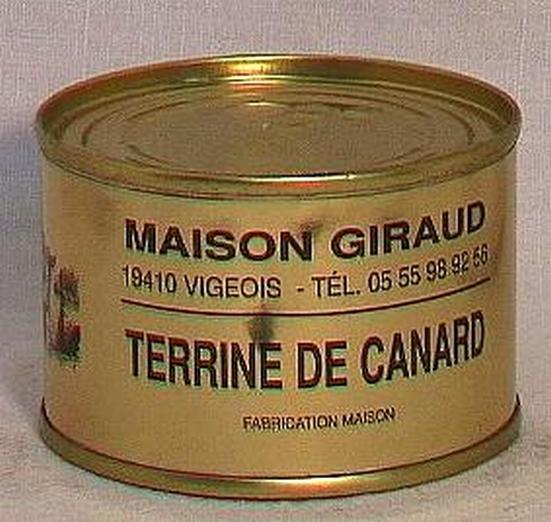 Terrine de canard au foie gras (bte 130g)