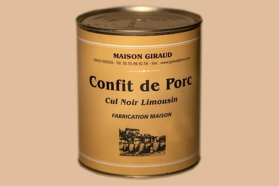Confit de porc Cul Noir  ( bte 800g )