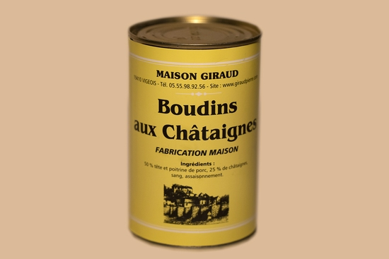 Boudins aux châtaignes (bte 400 gr )