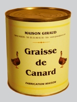Graisse  de canard ( la bte 4/4 800g )
