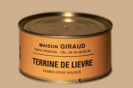 Terrine de lièvre ( bte 190g )