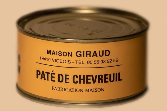 Pâté de chevreuil ( bte 190g )